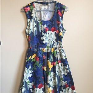 Kate Spade Saturday floral watercolor mini dress